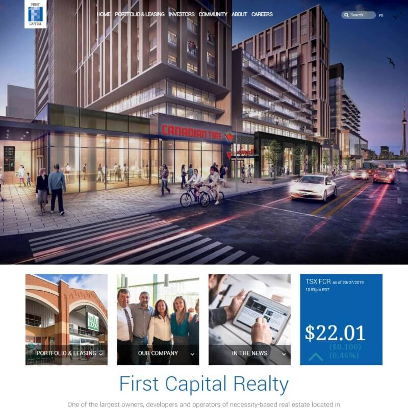 First Capital realty website.